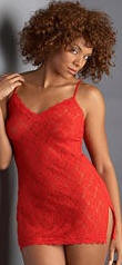 red plus size lingerie